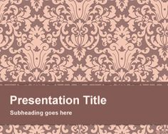 Floral Pattern PowerPoint Template is a simple and basic PowerPoint template with floral pattern design in the master slide that… Simple Powerpoint Templates, Powerpoint Presentations, Presentation Templates, Pattern Art, Pattern Design, Wallpaper Powerpoint, Boarders And Frames, Power Points, Background Images