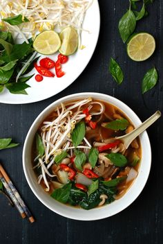 30-Minute Veggie Pho - Easy, delicious, and totally vegan! | Pixel-sprout.com