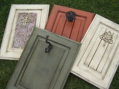 ~Cabinet Doors~ a can of paint, and a trip to Hobby Lobby. Fun and interesting i& p Cabinet Doors a can of paint and a trip to Hobby Lobby Fun and interesting ideas p Doors Repurposed, Decor, Diy Decor, Hobby Lobby Furniture, Old Cabinets, Wood Crafts, Diy Door, Door Crafts, Cabinet Door Crafts