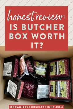 Is Butcher Box Worth It? | Meal Prep for Beginners - Have you been wondering lately: Is ButcherBox worth it? Well, I'm here to help! Here is the full rundown on how ButcherBox Meat Delivery has completely changed my life and meal planning. Plus, I'll share some of my tips on how to make ButcherBox more affordable. Organize Yourself Skinny | Cooking Tips | Healthy Eating #butcherbox #cookingtips #mealprep