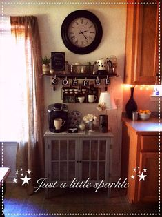 *Just a little sparkle*: My coffee station. At least for now.