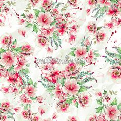 Garden05 Seamless #hibiscus #flowers #pattern.48x48 cm.300 Dpi.