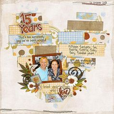 Scrapbook layout... Cute idea and clever paper placing