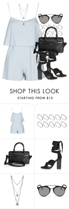 """""""Style #10060"""" by vany-alvarado ❤ liked on Polyvore featuring Topshop, ASOS, Yves Saint Laurent, Vince Camuto and Christian Dior"""