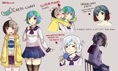 Can't have celestial bodies without an Earth chan to match. By BSApricot | Earth-chan | Know Your Meme