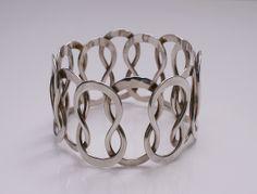 Bracelet |  Designed by Anna Greta Eker for Plus Workshop Norway c.1970 Sterling Silver