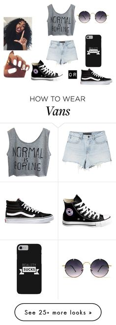 """Untitled #475"" by dance-is-my-hope on Polyvore featuring Converse, Vans, Alexander Wang and Spitfire"