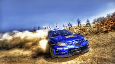 Blue Subaru Rally Car HD Wallpapers