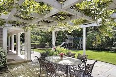 patio landscaping patio deck white wooden pergola grapevine arbot ideas outdoor furniture