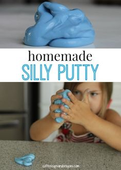 Homemade Silly Putty Recipe. DIY Play Recipe for Kids that makes a fun science experiment too