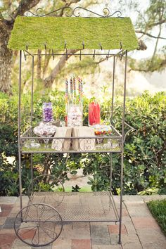 grassy candy cart.