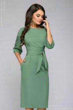 fashion dresses Fall Outfits For Work Dresses in a Budget, Casual work dresses, summer and winter work dress outfits, professional work dresses. Office Dresses For Women, Trendy Dresses, Dresses For Work, Dresses Dresses, Simple Elegant Dresses, Pencil Dresses, Mode Outfits, Dress Outfits, Modest Fashion