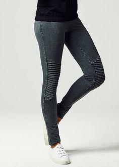 Urban Classics Ladies Leggings Ladies Denim Jersey Leggings dunkelgrau Urban Classics Ladies Hosen | 77onlineshop im Online Shop preiswert kaufen