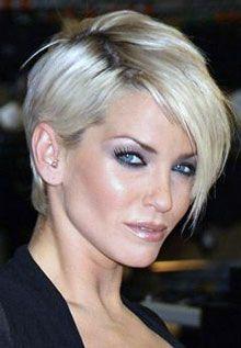 asymmetrical women short haircut