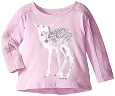 The Childrens Place BabyGirls Lace Panel Top Wisteria 1824 Months * Check this awesome product by going to the link at the image. (This is an affiliate link) Baby Girl Tops, Wisteria, Image Link, Graphic Sweatshirt, Sweatshirts, Awesome, Lace, Check, Clothing