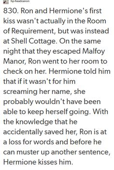 Ron and Hermione More