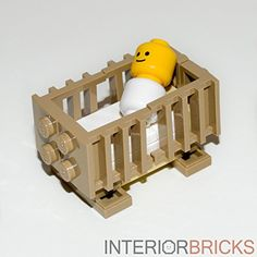 LEGO Furniture: Baby Crib with Baby Included! - Custom Design & Instructions Interior Bricks http://www.amazon.com/dp/B00WJMRNNO/ref=cm_sw_r_pi_dp_cq2Zwb0J40M52