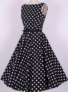 Vestido vintage anos 50 Bolinhas - Produto 596977 | AIRU