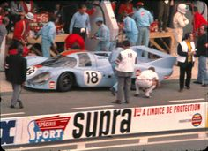 Pedro Rodriguez / Jackie Oliver, #18 Porsche 917LH (John Wyer Automotive Engineering Ltd), 24 Hours Le Mans 1971 (DNF)
