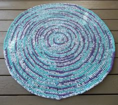 Bright Purple and Turquoise Crocheted Rag by MountainMommaDesigns