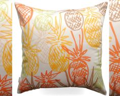 Pineapple Pillow Cover - For tropical home decor, honeymoon gifts, and housewarming presents.