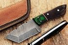s.a custom hand made hunting knife skinner with bufflo horn & wood handle S 128