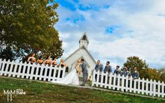 Wedding Picture M Photo -Iowa  Living History farms Chuch