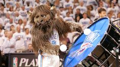 Rumble the Bison representing the OKC Thunder