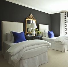 The Issabella single bedheads with matching bed valance