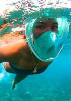 Enjoy the sea creatures with the best snorkel mask ever! - www.MyWonderList.com #sea #snorkel #gift
