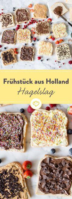 Frühstück aus Holland: Hagelslag - oder das wohl schnellste und bunteste Frühstück der Welt.Toast buttern, Streusel drauf, fertig.