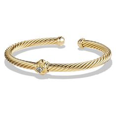 Renaissance Bracelet with Diamonds in Gold, Diamond Bangle, Diamond Jewelry, Gold Jewelry, Jewelry Bracelets, Jewellery, David Yurman, Gold Bangles, Jewelry Collection, 18k Gold