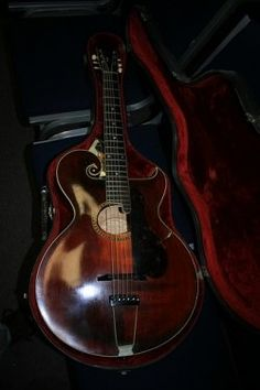 """Vintage Gibson ~ """"I've been searching for one like my dad's which was my first look at a Guitar, it was love at first sight. It was in the late 1950's. The Guitar was older than that tho. This one is very close"""""""