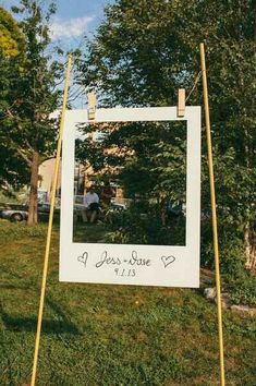 21 Stunning DIY Wedding Photo Booth Backdrops Polaroid frame, Wedding backdrop outside, outside wedd Diy Wedding Photo Booth, Diy Wedding Backdrop, Wedding Decorations On A Budget, Diy Photo Booth, Diy Backdrop, Photo Booth Backdrop, Wedding Photos, Photo Booths, Vintage Backdrop
