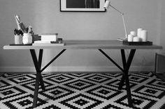 Mesa Food de roble macizo 160x90x75h, estructura de hierro. Indima Home. Made in Spain. Diy, Furniture, Food, Home Decor, Solid Oak, Dining Room, Home Decoration, Mesas, Cooking
