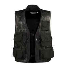 2018 Causal Mens Waistcoat Sleeveless Summer Baggy Multi Pocket Photographers Male Vest Gauze Green Camouflage Gilet for Men Military Vest, Military Camouflage, Suit Vest, Vest Men, Cargo Vest, Men's Waistcoat, Fishing Vest, Biker Vest, Sleeveless Jacket