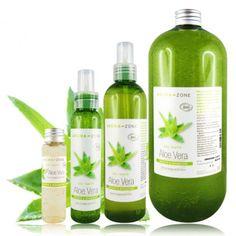 Gel d'Aloe Vera - Très riche en nutriments, en actifs naturels et en polysaccharides, ce gel est connu pour ses propriétés apaisantes, cicatrisantes, hydratantes, régénérantes, purifiantes, astringentes... Un must pour tous types de peaux !