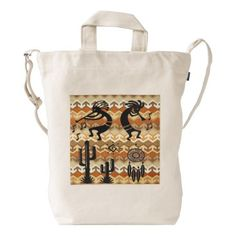 "Title : 70, Kokopellie, Icons-Silhouettes Art Duck Bag  Description : Fabrics, Patterns, Textiles, Stylish, Trendy, ""Home-Décor"", ""Ethnic-Cultural"", Tribal, Kokopelli, Oceanic, Bold, Colorful, Modern, Contemporary, Jacquard, Geometric, Nationality, Brocade, Exotic, Iconic, Symbolic, ""Home-Accessories"", Fashions, Polynesian, Silhouettes, Embellished, Embossed, Western, Southwest, ""Illustrative-Art"", ""Digital-Art"", Cactus, ""Native-American"", Vintage, Unique, Asian, Australia, Europe, India…"