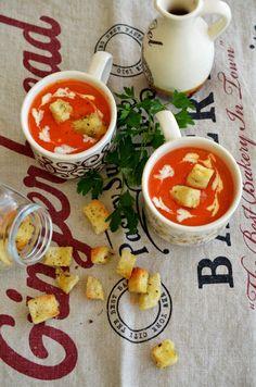Supa crema de ardei copti Best B, Thai Red Curry, Ramen, Toast, Ethnic Recipes, Food, Essen, Meals, Yemek