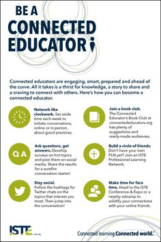 Be a connected educator infographic