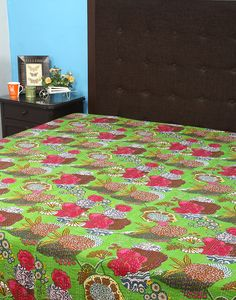 Vintage Bed Throw Bed Quilt Hearty Bohemian Collection Vintage Kantha Quilt