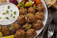 Greek Meatballs, Spicy Meatballs, How To Make Meatballs, Whole Foods Market, Easter Appetizers, Appetizer Recipes, Leftover Lamb Recipes, Veggie Cups, Cheese Stuffed Meatballs
