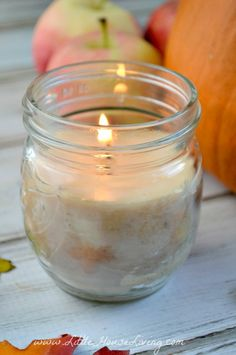 Candles for Fall, how to make your own.