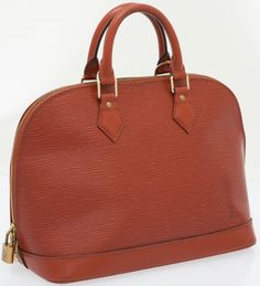 Louis Vuitton Burnt Red Epi Leather Alma Bag