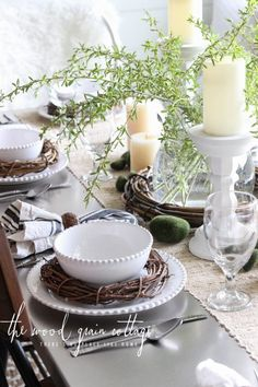 Setting the table for Easter: An easy and affordable way to create a lovely Easter table!