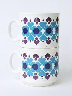 1970s Staffordshire mugs