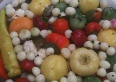 Hordós, bedobálós savanyúság | Andi Vig receptje - Cookpad receptek Pepperoni, Fruit Salad, Recipes, Food, Fruit Salads, Eten, Recipies, Ripped Recipes, Recipe