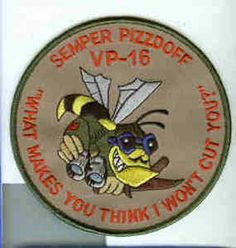 VP-16 EAGLES PIZZDOFF NAVY LOCKHEED P-3 ORION PATROL SQUADRON PATCH