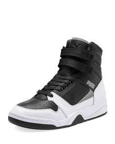 Puma Men's Palace Guard Moto-x High-top Sneakers In Black Men's High Top Sneakers, Puma Sneakers, Shoes Sneakers, Mens High Top Shoes, Sneakers Fashion, Fashion Shoes, Mens Fashion, Skull Fashion, Pumas Shoes