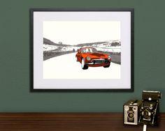 MGB Yorkshire Dales Silkscreen Screen Print by BenWhittington